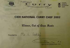 Curry Chef of Year