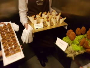 Canapes at Alnwick Castle